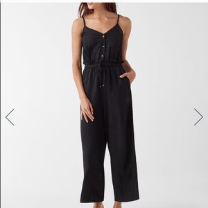 Splendid xs black Cropped cami jumpsuit